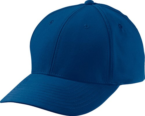 MB6135 6 Panel Polyester Peach Cap - Navy - One size