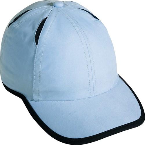 MB6156 6 Panel Micro-Edge Sports Cap - Lichtblauw/navy - One size