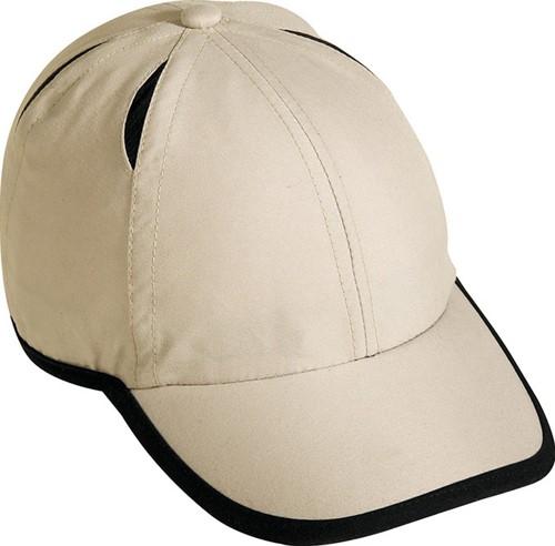 MB6156 6 Panel Micro-Edge Sports Cap - Licht khaki/zwart - One size