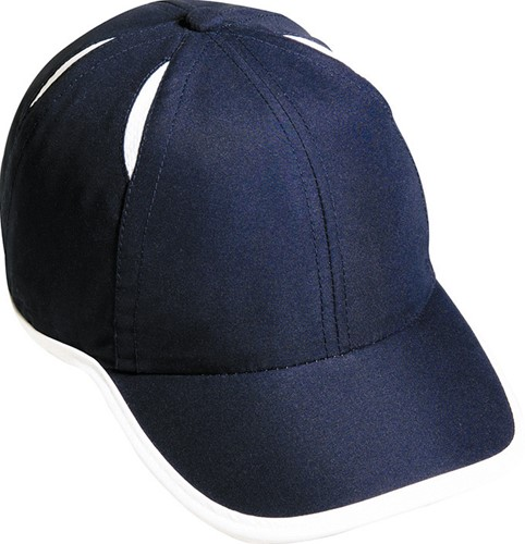 MB6156 6 Panel Micro-Edge Sports Cap - Navy/wit - One size