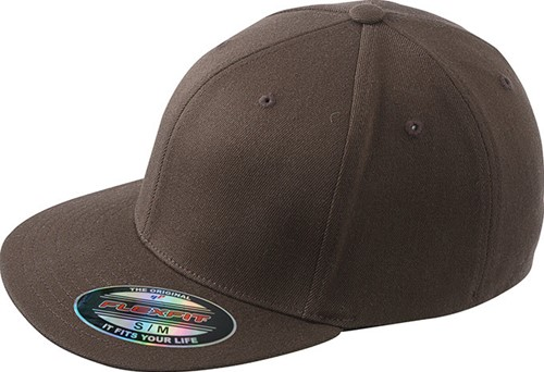 MB6184 Flexfit® Flat Peak Cap - Donkerbruin - S/M