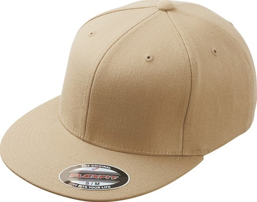 MB6184 Flexfit® Flat Peak Cap - Khaki - S/M