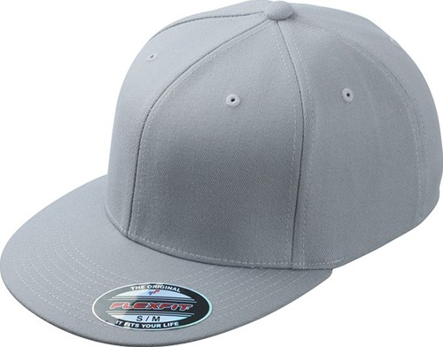 MB6184 Flexfit® Flat Peak Cap - Lichtgrijs - S/M
