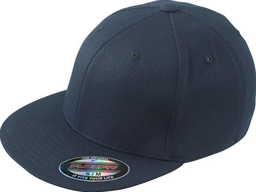 MB6184 Flexfit® Flat Peak Cap - Navy - S/M