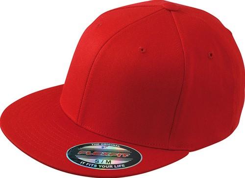 MB6184 Flexfit® Flat Peak Cap - Rood - L/XL