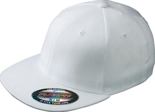 MB6184 Flexfit® Flat Peak Cap - Wit - S/M