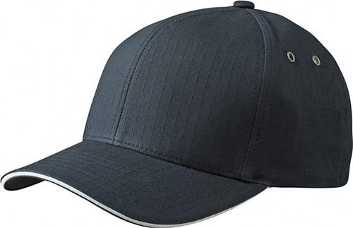 MB6187 Flexfit® Ripstop Sandwich Cap - Zwart/crème - S/M