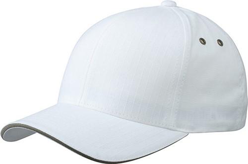 MB6187 Flexfit® Ripstop Sandwich Cap - Wit/olijf - S/M