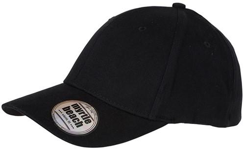 MB6206 6 Panel Elastic Fit Baseball Cap - Zwart - S/M