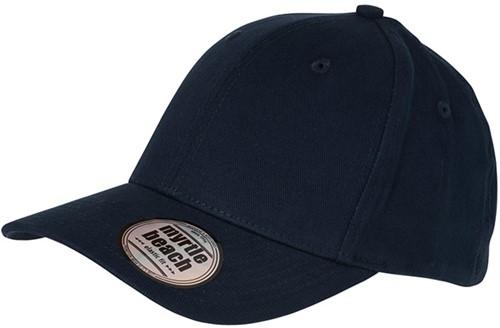 MB6206 6 Panel Elastic Fit Baseball Cap - Navy - S/M