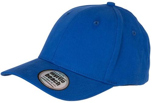 MB6206 6 Panel Elastic Fit Baseball Cap - Royal - L/XL