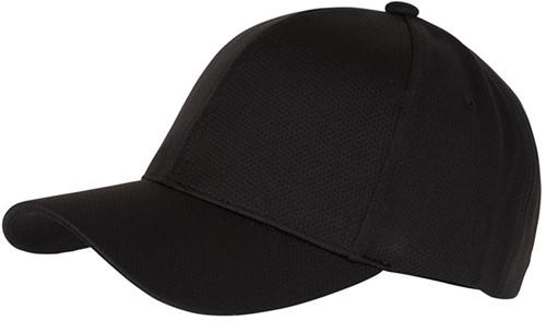 MB6214 6 Panel Sport Mesh Cap - Zwart - One size