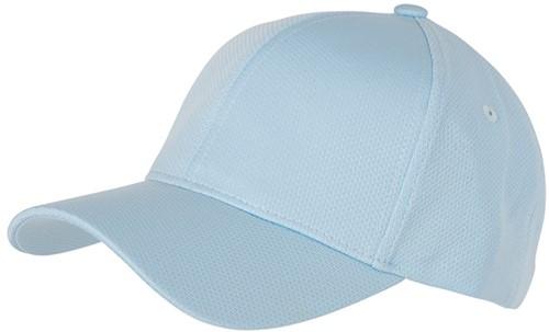 MB6214 6 Panel Sport Mesh Cap - Lichtblauw - One size