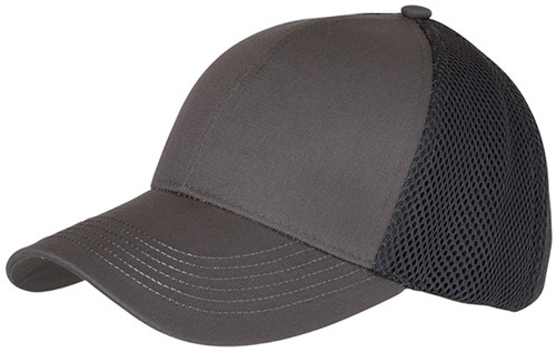 MB6216 6 Panel Air Mesh Cap - Donkergrijs - One size