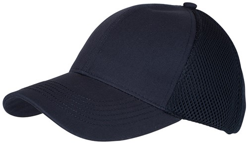 MB6216 6 Panel Air Mesh Cap - Navy - One size