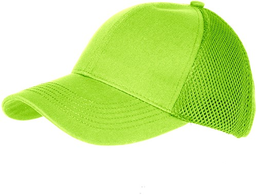 MB6216 6 Panel Air Mesh Cap - Neon groen - One size