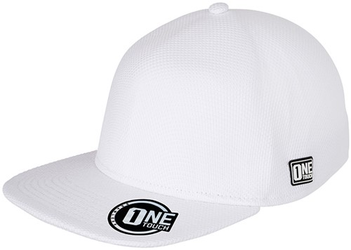 MB6222 Seamless OneTouch Flat Peak Cap - Wit - One size