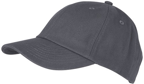 MB6223 6 Panel Heavy Brushed Cap - Carbon - One size