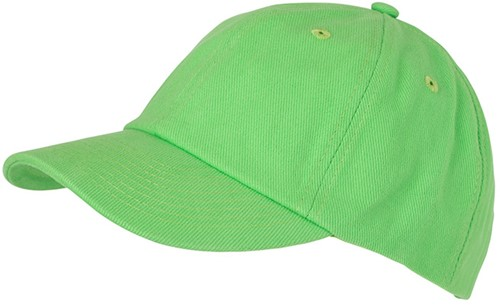 MB6223 6 Panel Heavy Brushed Cap - Lime - One size