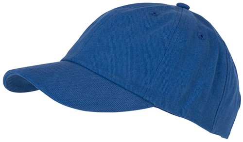 MB6223 6 Panel Heavy Brushed Cap - Royal - One size