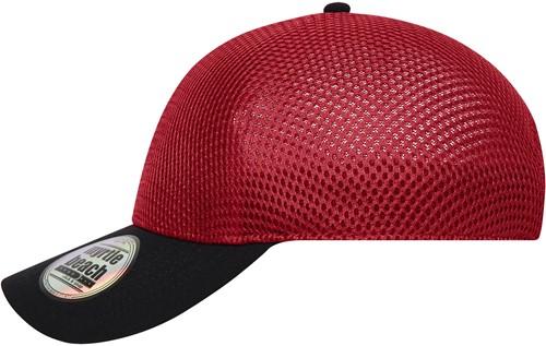 MB6233 Seamless Mesh Cap - Rood/zwart - One size
