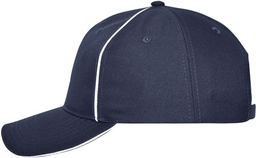 MB6234 6 Panel Workwear Cap - SOLID - - Navy - One size