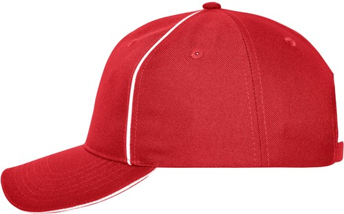 MB6234 6 Panel Workwear Cap - SOLID - - Rood - One size
