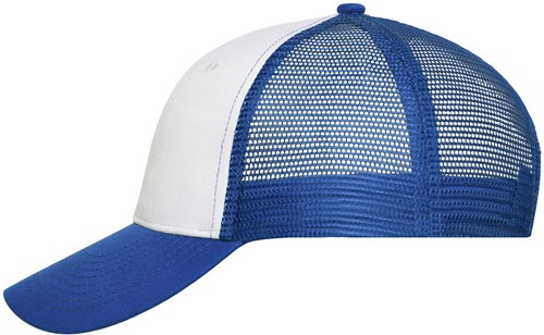 MB6239 6 Panel Mesh Cap - Wit/royal - One size