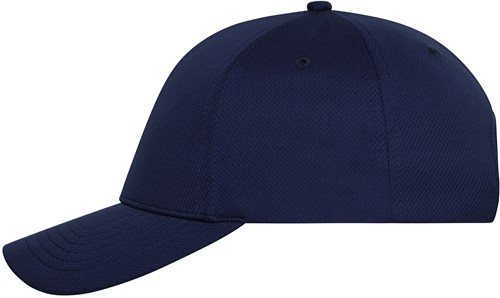 MB6241 6 Panel Sports Cap - Navy - One size