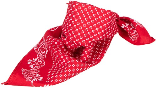 MB6400 Traditional Bandana - Rood/wit - One size