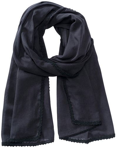 MB6404 Cotton Scarf - Zwart - One size