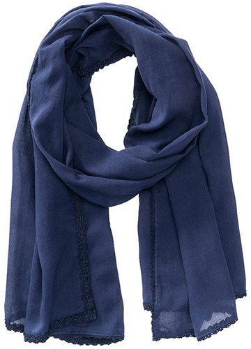 MB6404 Cotton Scarf - Navy - One size