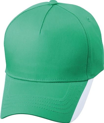 MB6502 5 Panel Two Tone Cap - Iers-groen/wit - One size