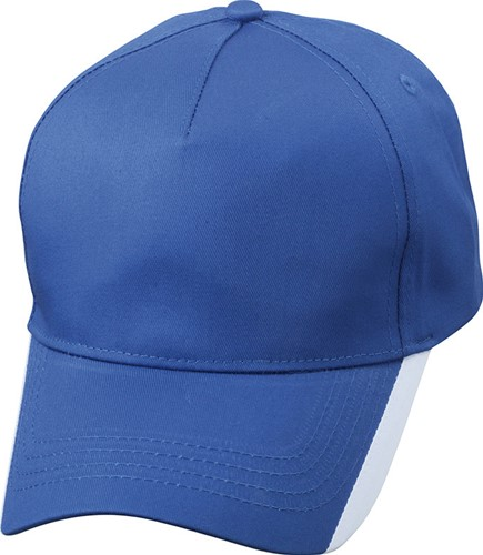 MB6502 5 Panel Two Tone Cap - Royal/wit - One size