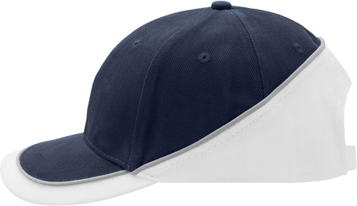 MB6506 6 Panel Turbo Piping Cap - Navy/wit/lichtgrijs - One size
