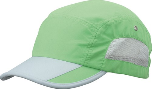 MB6522 5 Panel Sportive Cap - Lime/lichtgrijs - One size