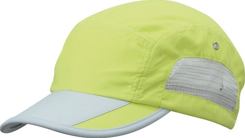 MB6522 5 Panel Sportive Cap - Zonnig-lime/lichtgrijs - One size