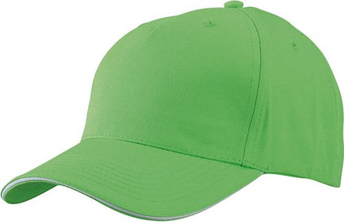 MB6526 5 Panel Sandwich Cap - Lime/wit - One size