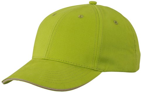 MB6541 Light Brushed Sandwich Cap - Lime/beige - One size