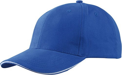 MB6541 Light Brushed Sandwich Cap - Royal/wit - One size
