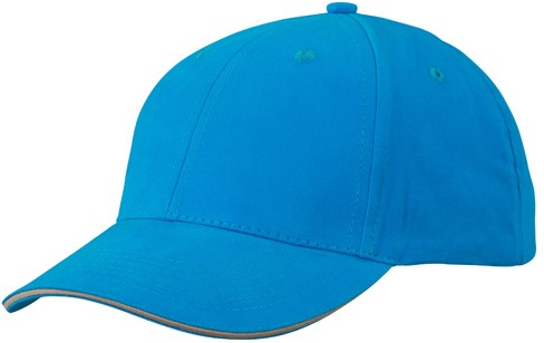 MB6541 Light Brushed Sandwich Cap - Turquoise/beige - One size