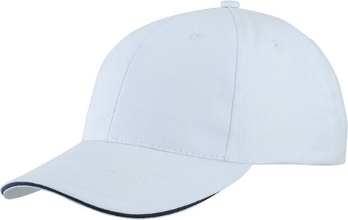 MB6541 Light Brushed Sandwich Cap - Wit/navy - One size