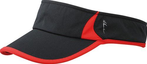 MB6545 Running Sunvisor - Zwart/rood - One size
