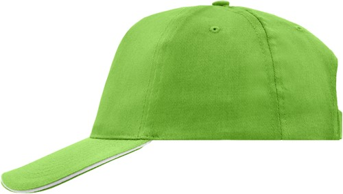 MB6552 5 Panel Promo Sandwich Cap - Lime/wit - One size