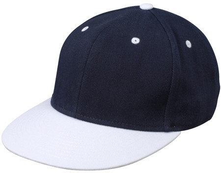 MB6581 6 Panel Pro Cap - Navy/wit - One size