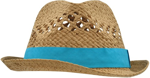 MB6598 Summer Style Hat - Caramel/turquoise - L/XL
