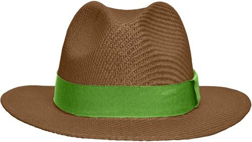 MB6599 Traveller Hat - Nougat/lime-groen - S/M