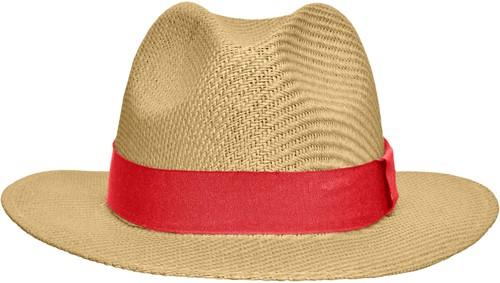 MB6599 Traveller Hat - Stro/rood - L/XL