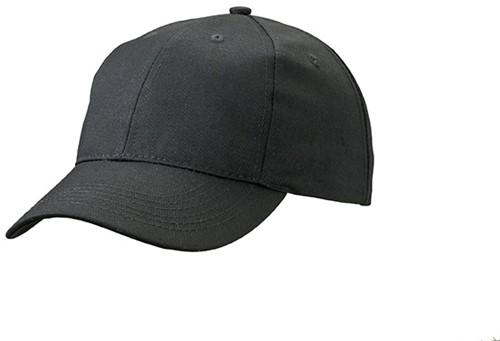 MB6621 6 Panel Workwear Cap - STRONG - - Zwart - One size