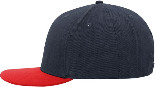 MB6634 6 Panel Pro Cap Style - Navy/rood - One size